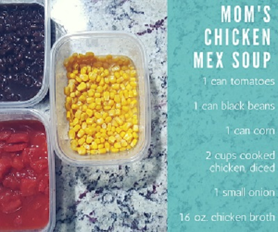 Tex Mex Soup - ingredients